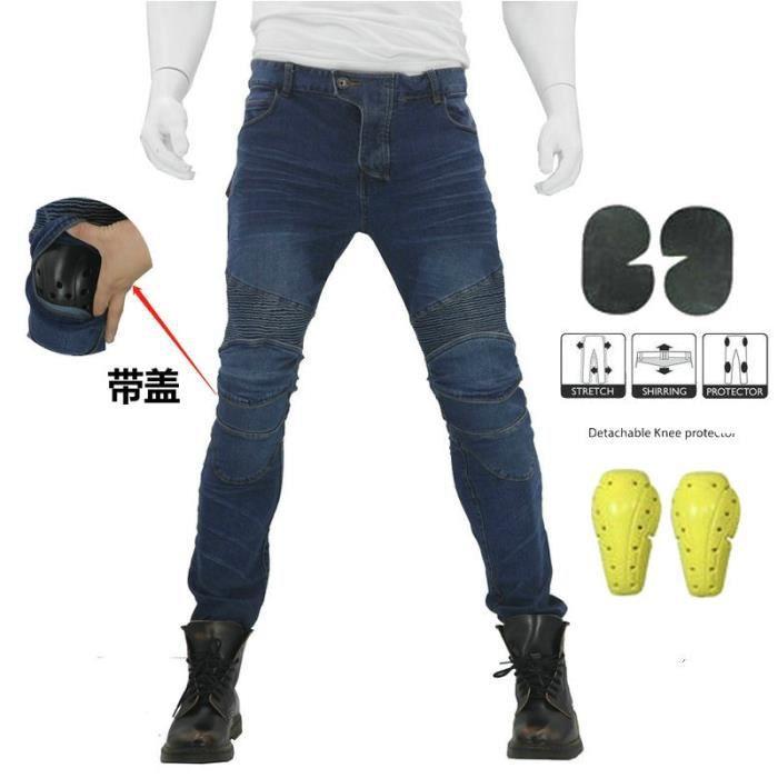 Hommes Moto Jeans Équipement de protection Motocross Pantalon