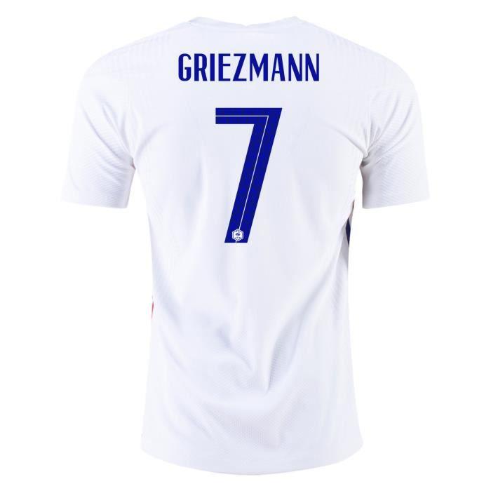 Maillot Equipe de France FFF 2 Etoiles 2020 2021 EURO Maillot de Foot 7 Antoine Griezmann Pas Cher Homme