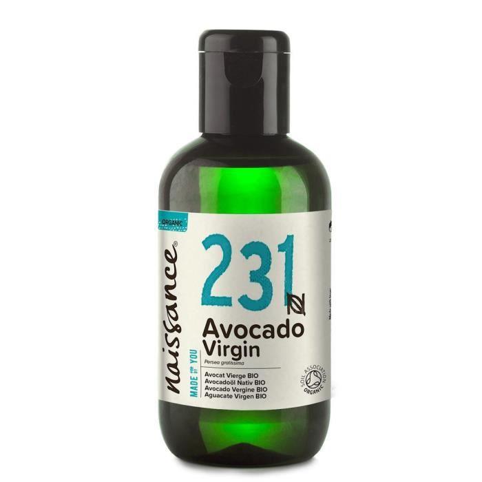 Naissance (n° 231) Avocat Vierge BIO 250 ml Huile Végétale 100% Pure