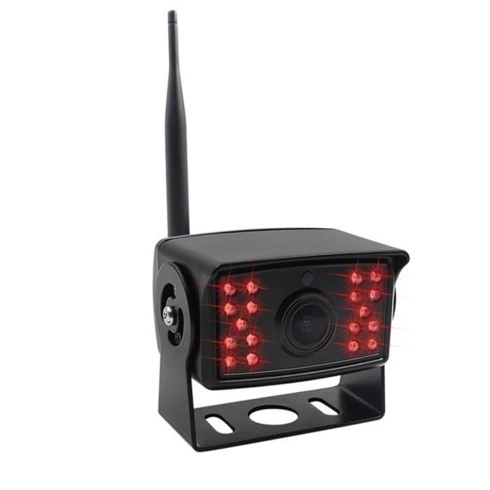 Caméra de recul sans fil de caméra de voiture sans fil Wifi caméra de recul de camion de vision nocturne étanche, noir