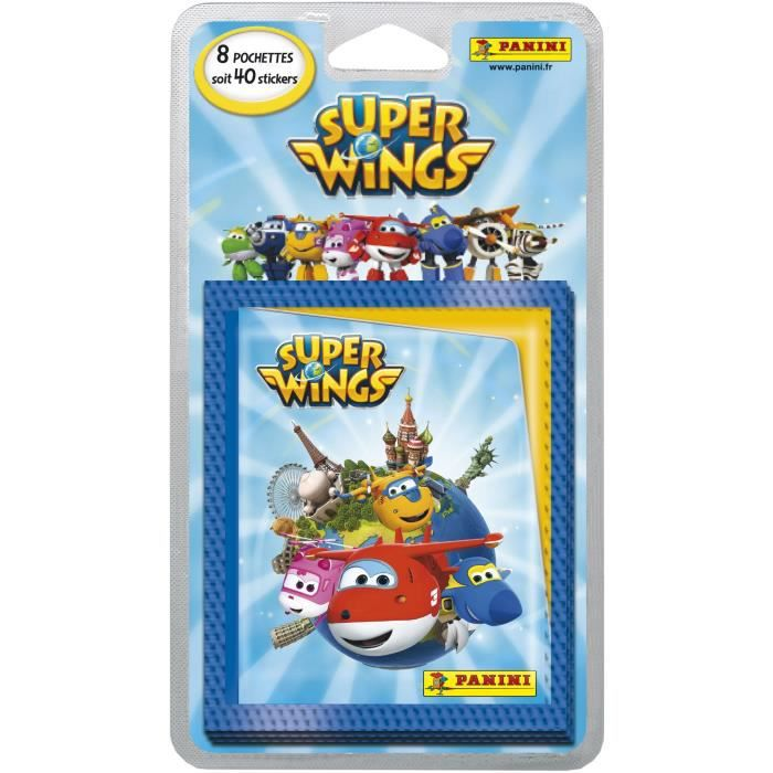 PANINI Blister de 8 pochettes de 5 stickers Super Wings