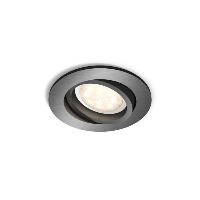 Philips myLiving Spot à encastrer 5020199P0, Recessed lighting spot, 1 ampoule(s), LED, 4,5 W, 500 lm, Gris
