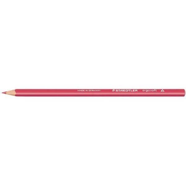 Crayon de couleur ergosoft, triangulaire, rouge