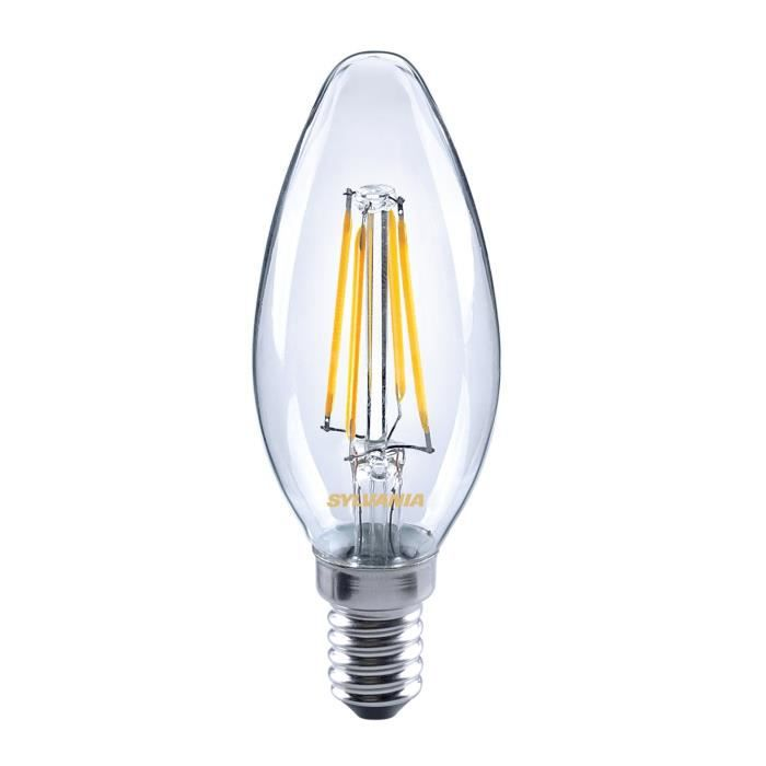 SYLVANIA Ampoule LED à filament Toledo Retro Candle E14 4W équivalence 35W