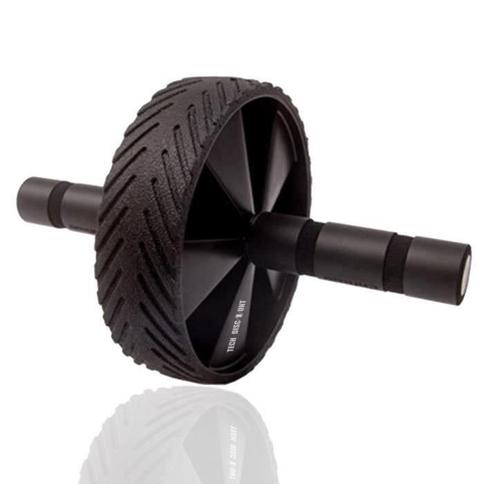 TD® Roue Abdominale,noir/Équipement d'exercice roue rouleau Abdo Musculation/Fitness ,Maison, salle/Solide et confortable/Avec Suppo