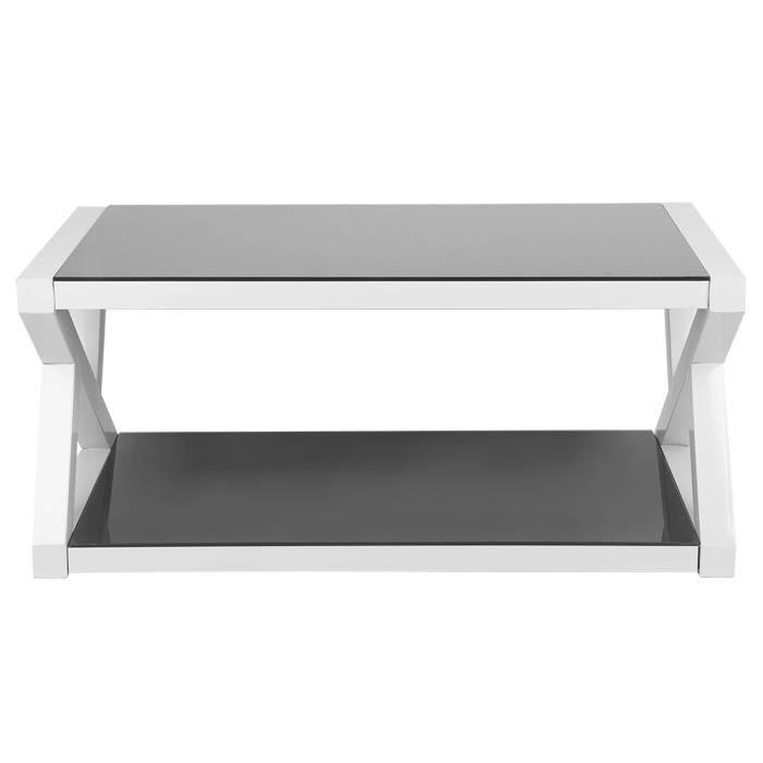 Table basse en verre trempé brillant-GXU