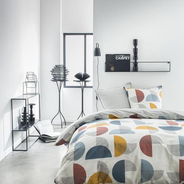 Housse de couette réversible et taie d'oreiller Today 100% coton 4.56 - taille:240 x 260 cm