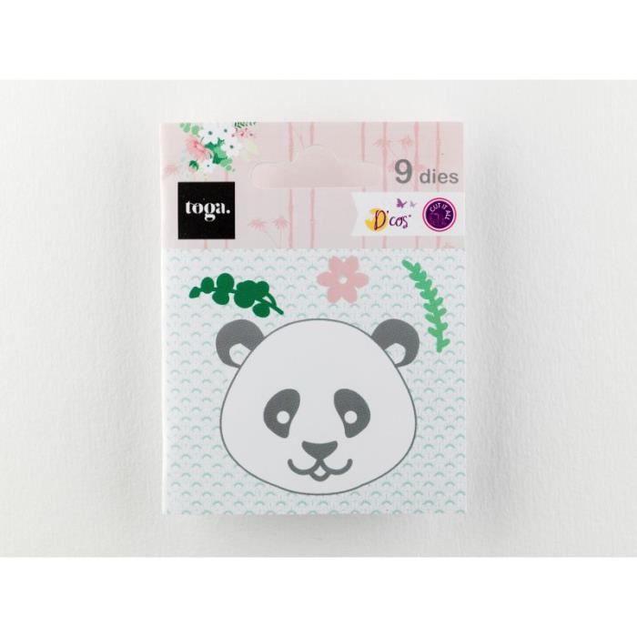 9 Dies/Matrices de découpe 'Toga - Printemps à Kyoto' Panda