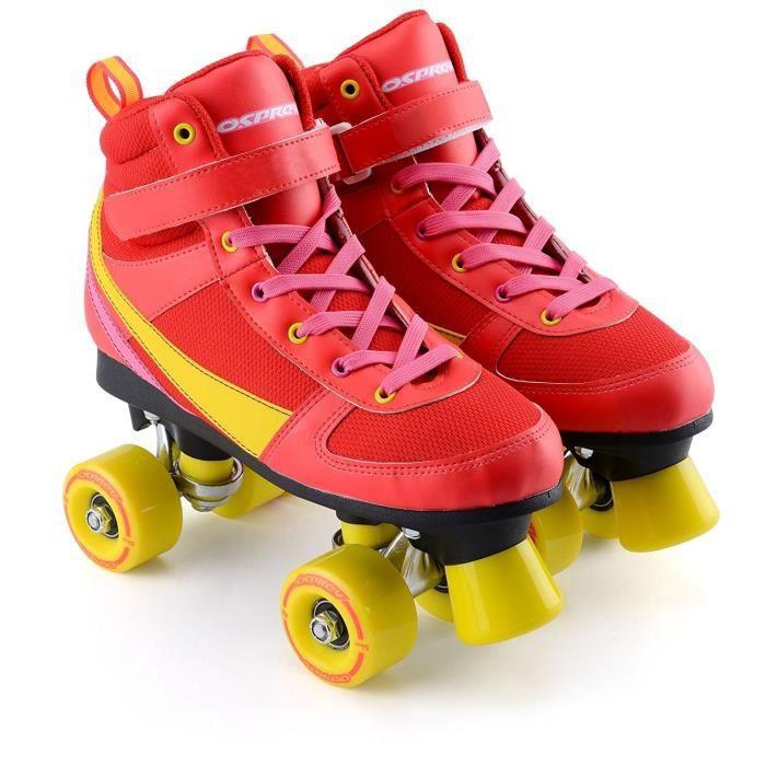 OSPREY Patins à roulettes Classic - Enfant - Rouge et jaune