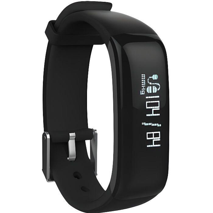 WEE'PLUG Bracelet sport connecté Bluetooth SB18 - Noir