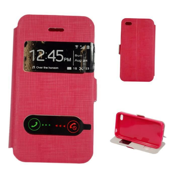 Etui housse coque iphone 4 4s tactile rouge achat housse for Etui housse iphone 4
