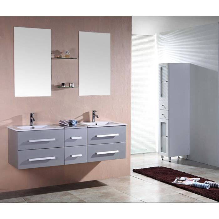 riviera2 gris meuble salle de bain contempora achat. Black Bedroom Furniture Sets. Home Design Ideas