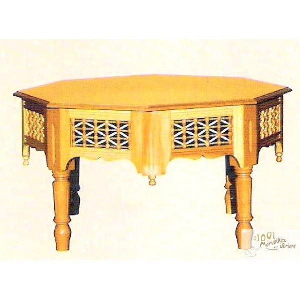 grande table centrale marocaine moucharabieh de achat vente table manger grande table. Black Bedroom Furniture Sets. Home Design Ideas