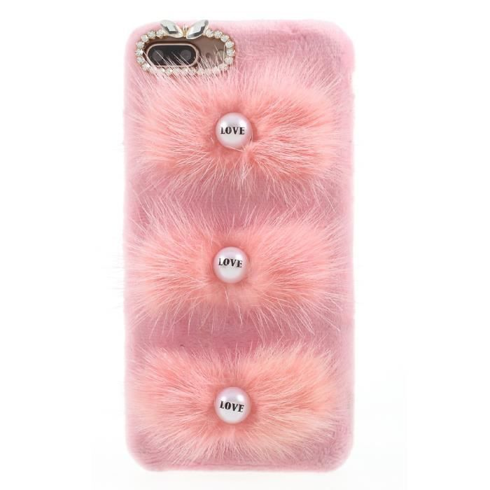 coque iphone 8 plus lapin fourrure