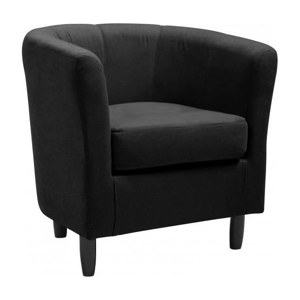 fauteuil cabriolet microbibre noir achat vente. Black Bedroom Furniture Sets. Home Design Ideas