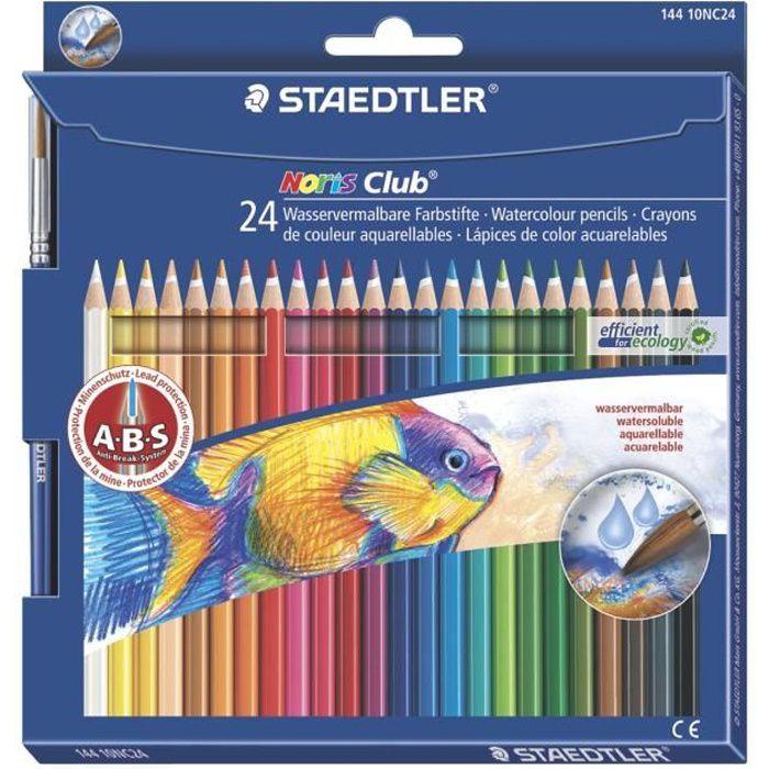 CRAYON DE COULEUR STAEDTLER 24 Crayons Aquarellables+ Pinceau