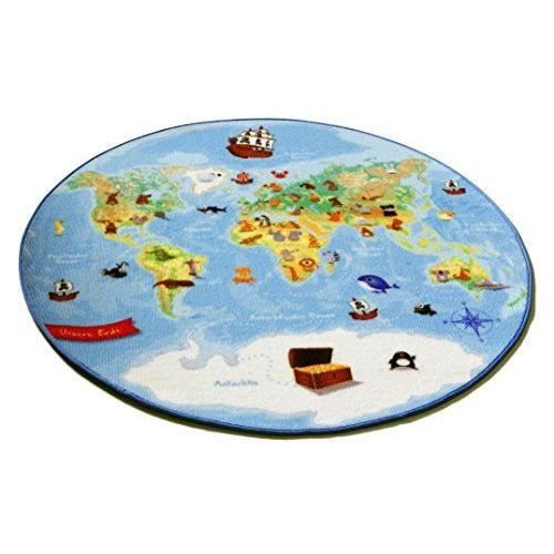 b ing carpet w map tapis rond avec carte du monde 130cm achat vente tapis les soldes sur. Black Bedroom Furniture Sets. Home Design Ideas