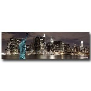 Tableau new york city by night achat vente tableau toile toile coton - Tableau lumineux new york ...