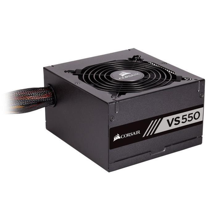 ALIMENTATION INTERNE CORSAIR Alimentation PC VS550 - 550W - 80+ Black (
