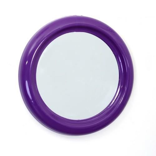 miroir pvc rond 30cm violet achat vente miroir salle de bain cdiscount. Black Bedroom Furniture Sets. Home Design Ideas