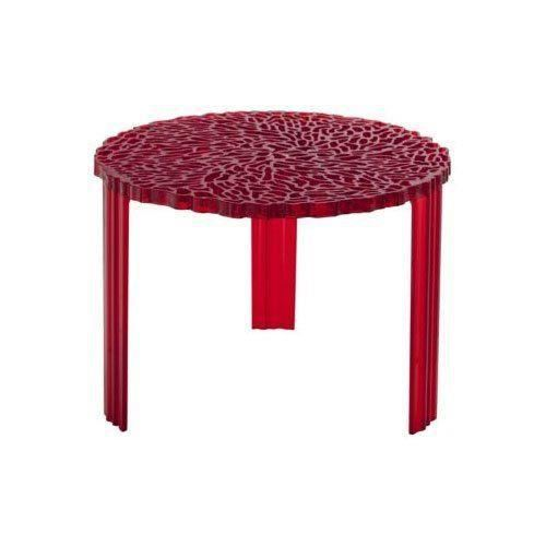 kartell 8502ro table basse t table rouge transparent achat vente table basse kartell 8502ro. Black Bedroom Furniture Sets. Home Design Ideas