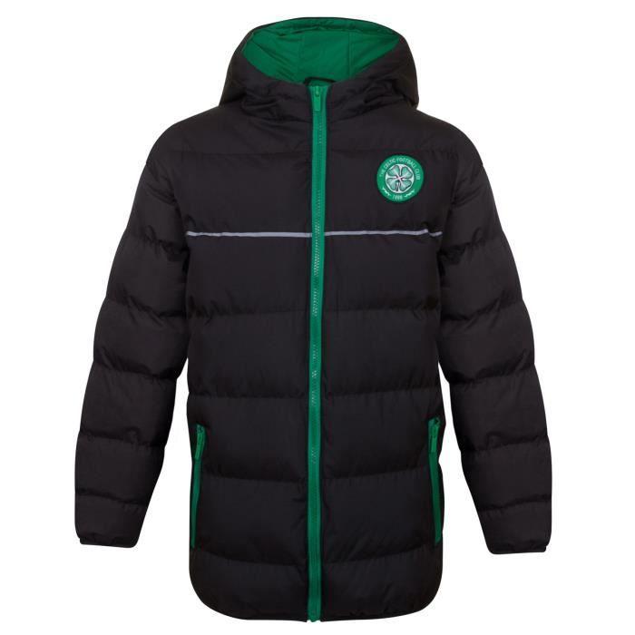 Celtic FC officiel Doudoune matelassée thème football à capuche garçon