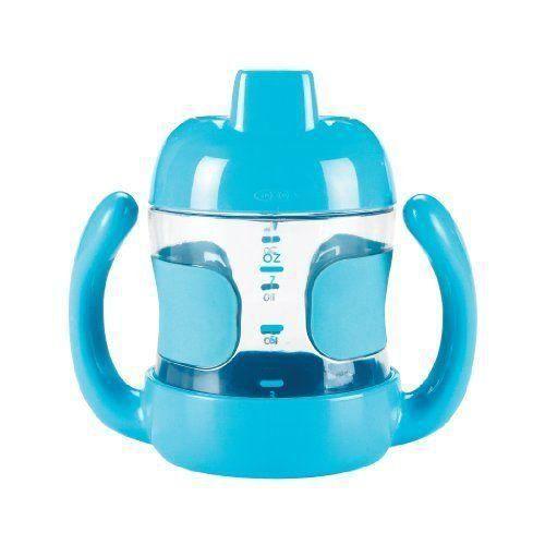 Oxo Tot Gobelet Bec avec Anses Bleu 200 ml