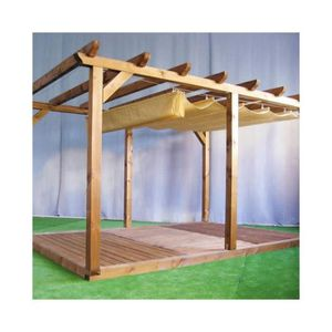 pergola bois 3x4 pas cher. Black Bedroom Furniture Sets. Home Design Ideas
