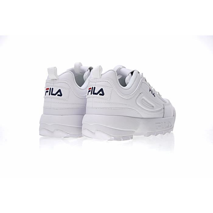 Baskets FILA Disruptor 2 II Low Chaussures Sneakers Femme Blanc
