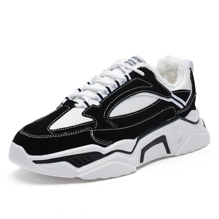 Chaussures de sport hommes noir tendance vieilles chaussures