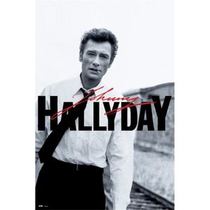 AFFICHE - POSTER Poster Johnny Hallyday - Portrait (91 x 61 cm)