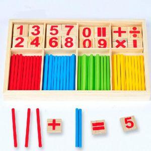 DÉS - JEU DE DÉS jeux éducatifs, Enfant en bois nombres Montessori