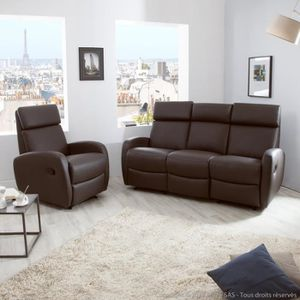 fauteuil cuir inclinable achat vente fauteuil cuir inclinable pas cher les soldes sur. Black Bedroom Furniture Sets. Home Design Ideas