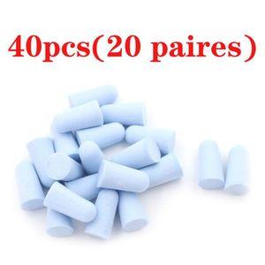 20 Paires Bouchons d/'oreilles SNR 33 dB bouchons d/'oreilles 40pcs = 20 paires