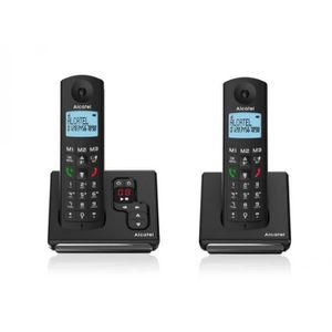 Téléphone fixe Téléphone fixe sans fil Alcatel F690 Duo Répondeur