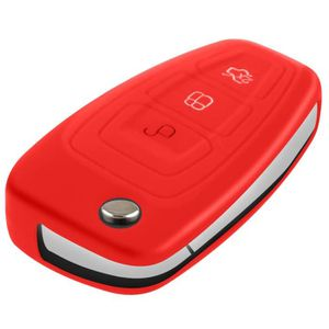 Clé Pliante Housse Rouge Ford Ranger Mondeo Fiesta Galaxy Mustang fob
