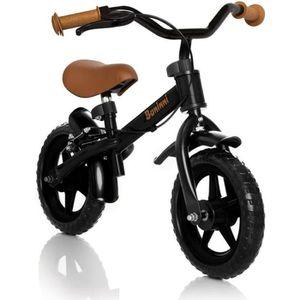 FAUTEUIL Baninni Vélo d'équilibre Wheely Noir et marron BNF