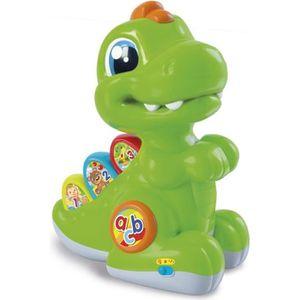 TABLE JOUET D'ACTIVITÉ CLEMENTONI Baby - Baby T-rex vert avec détecteur -