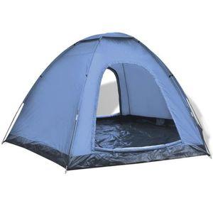 TENTE DE CAMPING Tente de Camping pour 6 Personnes Style Moderne Bl