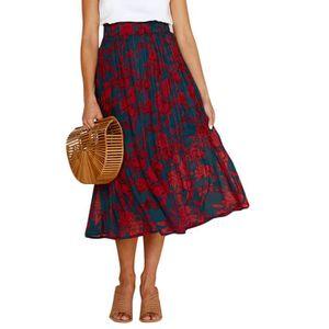 JUPE Minetom Jupe Femme Longue Taille Haute Floral Prin