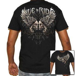 T-SHIRT Biker Life USA Tee-shirt en coton Biker Live To Ri