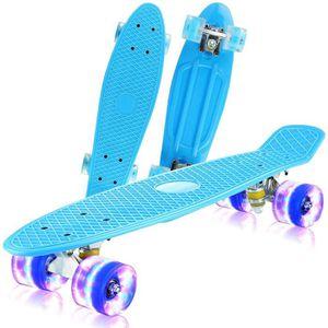 SKATEBOARD ÉLECTRIQUE NEUFU LED 22 Pouces Planche à roulettes Skateboard
