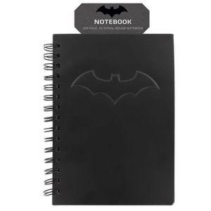 CAHIER Cahier noir mat DC Comics: Logo Batman en relief