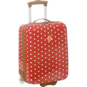 VALISE - BAGAGE Valise cabine rouge à pois 32,0 (L) x 45,0 (H) x 1