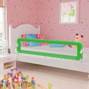 BARRIÈRE DE LIT BÉBÉ vidaXL Barrière de sécurité de lit enfant Vert 180