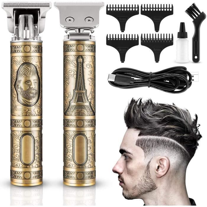 tondeuse cheveux homme, usb tondeuse à cheveux professionnelle electrique rasoir à barbe, tondeuse rechargeable sans fil pour usag
