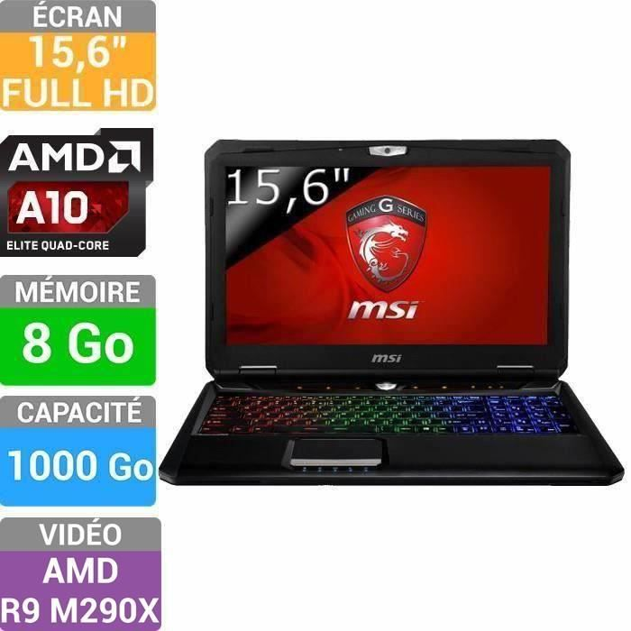 msi pc portable gamer gx60 3cc 283xfr destroyer prix pas. Black Bedroom Furniture Sets. Home Design Ideas