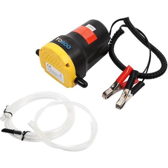 Pompe vidange d'huile aspiration électrique d'extracteur de transfert pour bateau de moto de voiture 12V/60W/5A