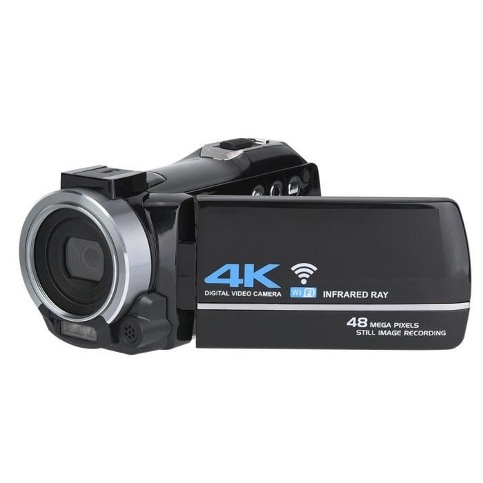 LANQI DV-FR485 3K Ipad 4K 48MP HD Digital DV Caméra 16X Zoom Wifi Télécommande