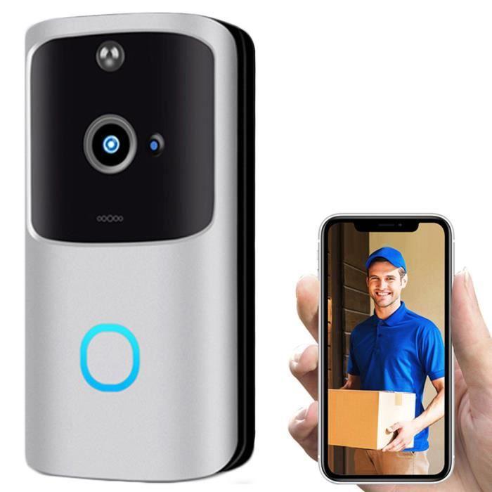 Sans fil WiFi DoorBell Smart Video Phone Interphone visuel Door Bell Secure Camera caméra 730